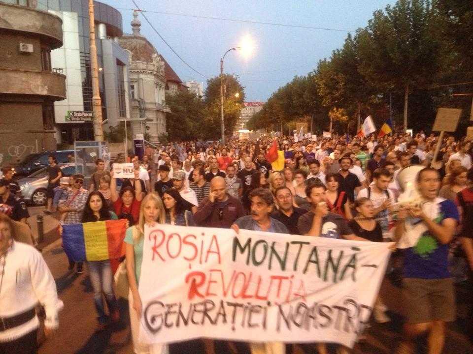 PROTESTE fata de proiectul ROSIA MONTANA [VIDEO, FOTO]. Cum au reflectat televiziunile de stiri