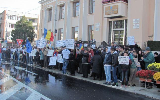 Aproape 1.000 de bârlădeni au participat la protest