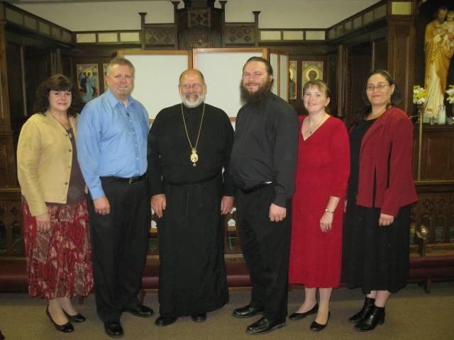 Alaturi de episcopul Ioan (sursa foto theorthodoxlife.wordpress.com).
