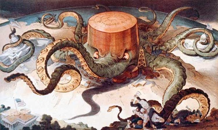 """<b>DECONSTRUIREA MITULUI INDEPENDENTEI ENERGETICE PRIN GAZELE DE SIST</b>. CHEVRON: urmasul trustului STANDARD OIL detinut de ROCKEFELLER, care a fost desfiintat pentru <i>""""conspiratie impotriva concetatenilor""""</i>/ PROSPECTIUNI SEISMICE ALE CHEVRON pe terenurile arabile ale oamenilor"""