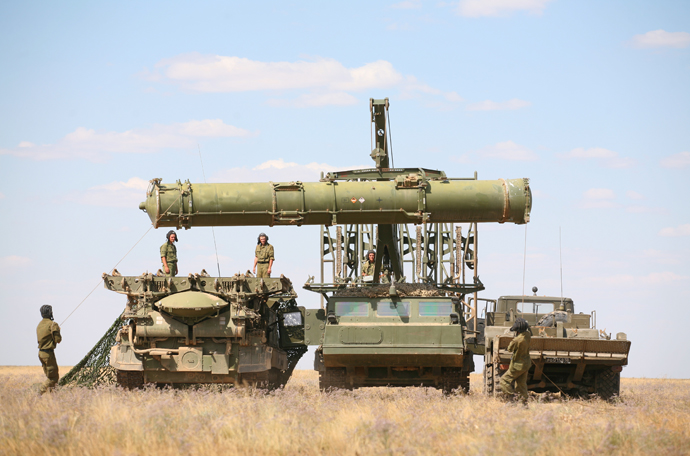 Training of Air Defense Forces in Western military district (ZVO) at Kapustin Yar in Astrakhan region