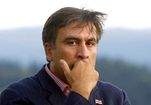 Georgian President Saakashvili is seen before a conference of the strategic forum in Bled
