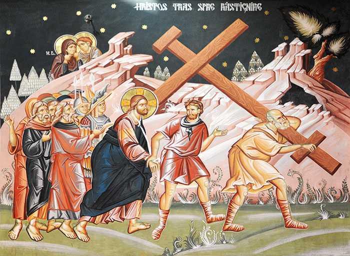 HRISTOS TRAS SPRE RASTIGNIRE - Fresca de Sorin Nicolae si Adrian Botea din Biserica Nasterea Maicii Domnului din Bucuresti