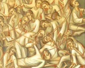 detaliu icoana martiri