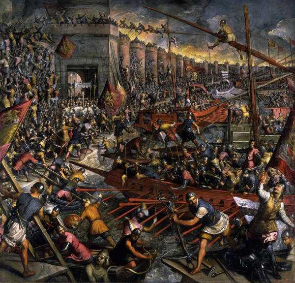 Eroberung von Konstantinopel / Tintor. - Conquest of Constantinople / Tintoretto - Prise de Constantinople / Tintoret