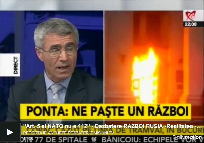 """<i><b>""""Articolul 5 al Tratatului NATO nu e 112""""; """"Românii – marionetele SUA, tinte pentru RUSIA""""</i></b> – DEZBATERE ASUPRA RISCULUI DE RAZBOI PENTRU ROMANIA la Realitatea TV <i>(VIDEO)</i>"""