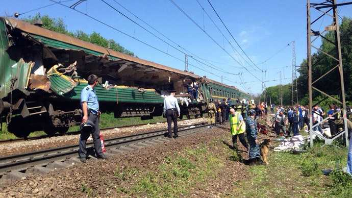 """Straniul accident feroviar din Rusia: marfarul """"ROMANIA"""" ce apartine unei companii UCRAINIENE a deraiat in trenul de calatori de pe ruta MOSCOVA – CHISINAU"""