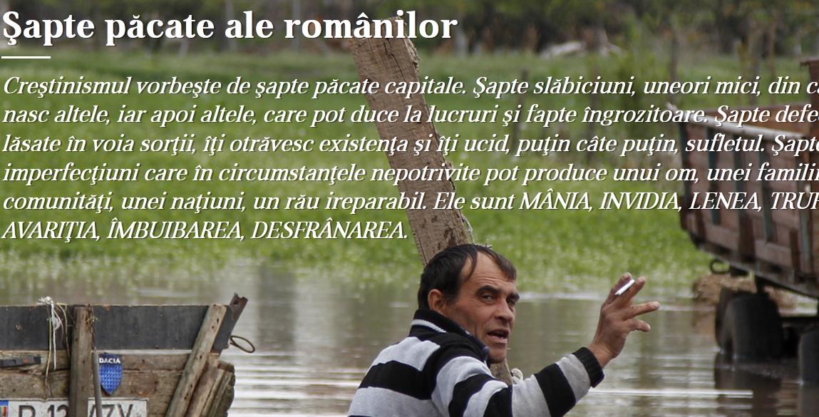 """""""Cele sapte pacate ale romanilor"""" versus PACATELE DE MOARTE ALE MORALISMULUI CORPORATISTO-SECURIST"""
