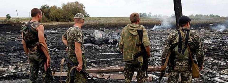 Gandul - separatisti pro-rusi la locul prabusirii aeronavei Malaysia