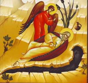 Sf Ilie sub ienupar, alungat de Izabela - ingerul il trezeste