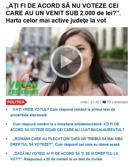 """Gandul"" a ajuns si la VOTUL CENZITAR. Resurgenta periculoasa a MENTALITATII FASCISTE in Romania: justitiarism si elitism ANTIDEMOCRATIC"
