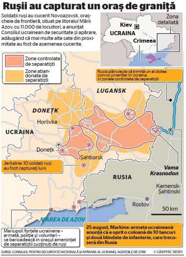 """A INVADAT SAU NU A INVADAT? Ucraina, NATO si Ambasada SUA de la Kiev acuza INTRAREA TRUPELOR RUSESTI pe teritoriul ucrainian/ Kievul cere UE un """"AJUTOR MILITAR DE ANVERGURA""""/ NATO vrea BAZE MILITARE in Estul Europei. Rusia ameninta ca va raspunde"""