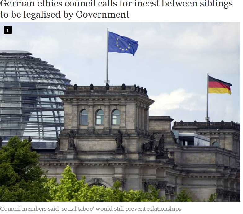"""Incestul – """"drept fundamental""""?! Consiliul de… ETICA al Germaniei cere LEGALIZAREA INCESTULUI"""