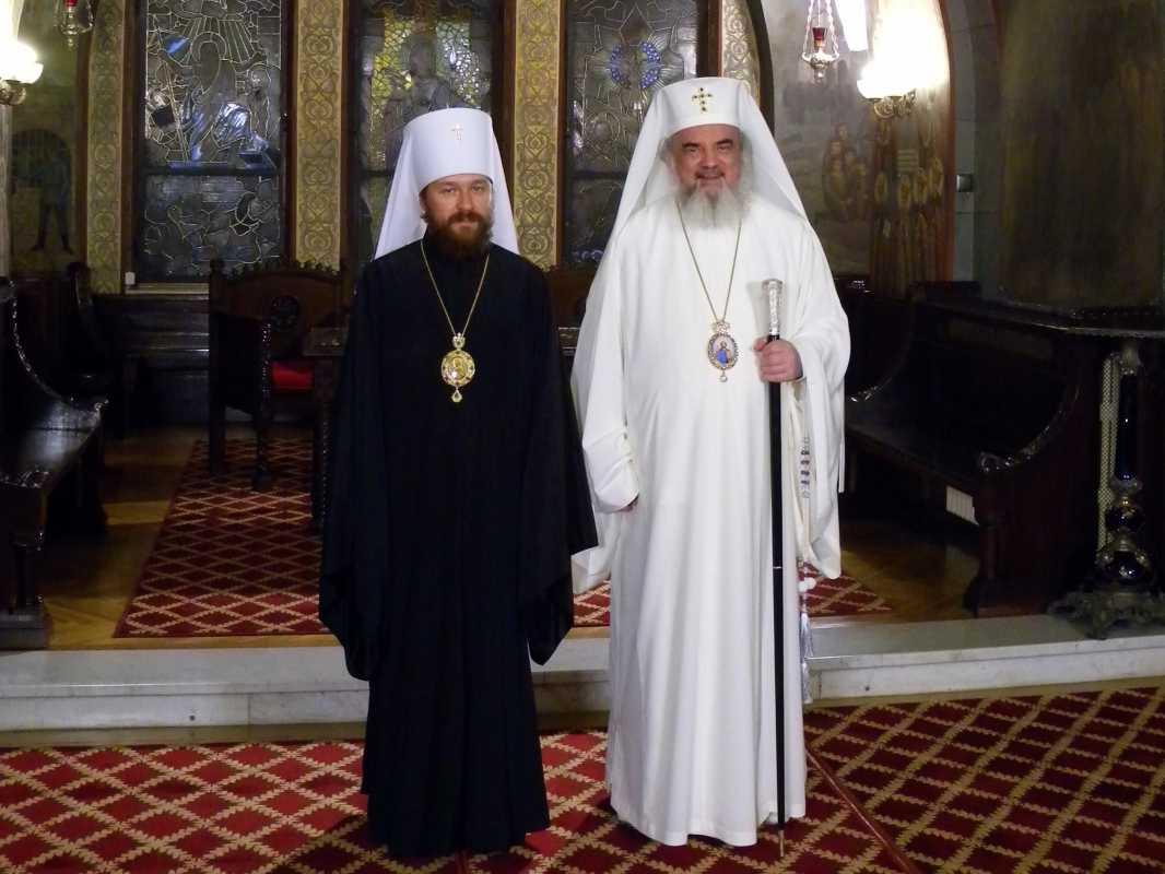 PATRIARHUL DANIEL l-a primit in vizita pe IPS ILARION ALFEYEV, seful Departamentului de Externe al Patriarhiei Ruse