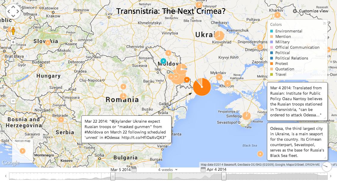 <i>Atentie la Transnistria!</i>/ Propaganda de razboi ruseasca: ROMANIA AR ANALIZA O INTERVENTIE MILITARA IN TRANSNISTRIA/ Rusia si Ucraina se acuza reciproc de ESCALADAREA CONFLICTULUI si PROVOCARI/ SOROS – implicat in strategia puterii kievene/ FMI cere Greciei TAIERI DE PENSII, majorare TVA la medicamente si privatizarea unor companii strategice