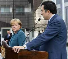 Angela Merkel, Mikhail Saakashvili