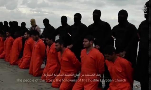 """<i>""""Un mesaj semnat cu sange pentru poporul Crucii""""</i>. 21 DE CRESTINI COPTI, DECAPITATI DE JIHADISTII DE LA ISIS"""