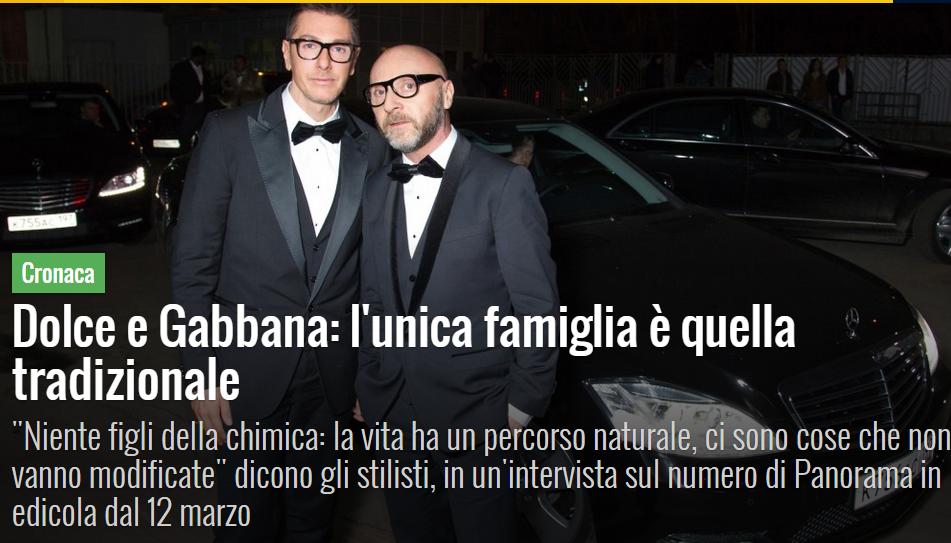 """Cuplul de …homosexuali DOLCE & GABBANA: SINGURA FAMILIE E CEA TRADITIONALA/ Marea Britanie: o mama a nascut copil fiului sau homosexual!/ RAPORTUL PANZERI: inca o REZOLUTIE PRO-GAY in Parlamentul European. MACOVEI SI PSD AU VOTAT PENTRU/ Slovenia a legalizat """"CASATORIILE HOMOSEXUALE"""", in ciuda unui referendum"""