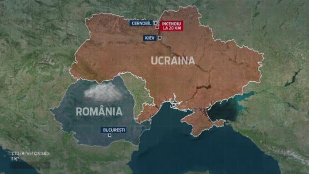 INCENDIU LA CERNOBAL. NORUL TOXIC SE POATE APROPIA DE ROMANIA, POSIBILA PLOAIE ACIDA (Video)