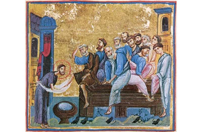 hristos_spala_picioarele_ucenicilor_manastirea_dionisiat_0