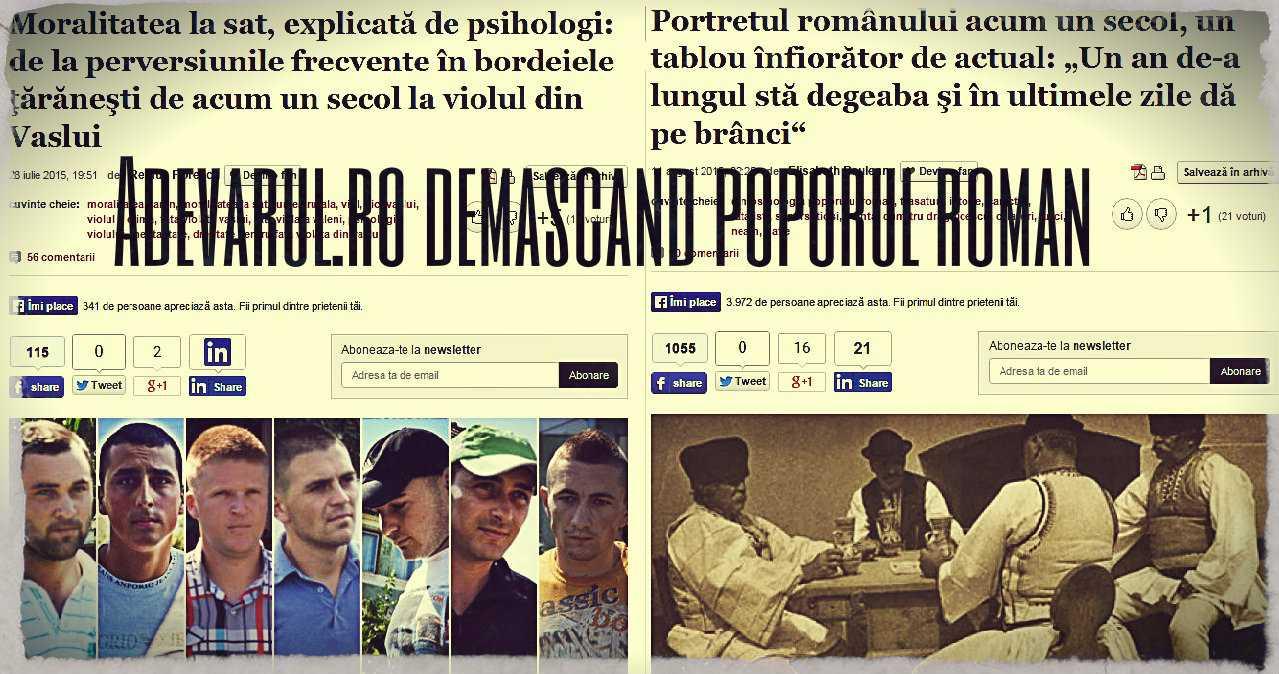 """POPORUL ROMÂN – NOUL DUȘMAN DE CLASĂ. Spatiul public, """"ocupat"""" de denigratorii de serviciu ai românilor"""
