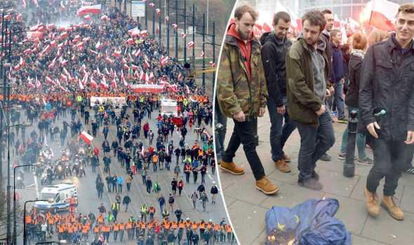 """GREVA GENERALA SI LUPTE DE STRADA LA ATENA (Video). Protestatarii contesta AUSTERITATEA NEOLIBERALA/ Ampla manifestatie in Polonia: <i>""""Ieri a fost Moscova, azi Bruxellesul ne ia libertatea""""</i>"""