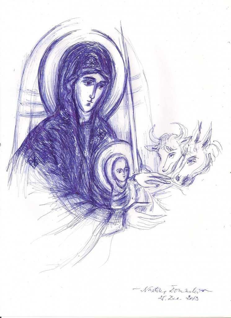 Nasterea Domnului- Maicuta - gabriela mihaita david