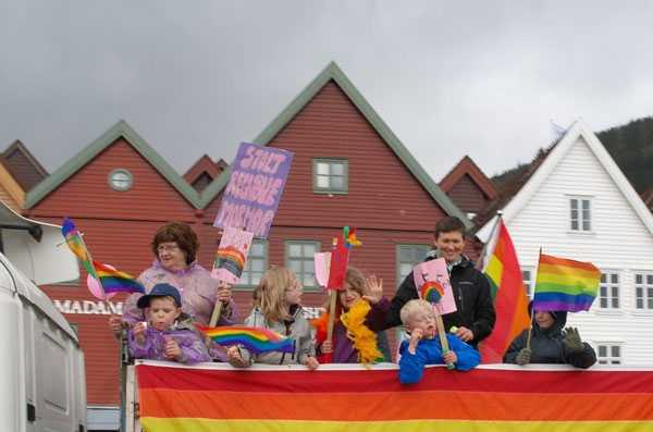 children gay parade in Norway