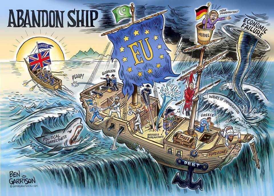 """CE VA FACE ROMÂNIA POST-BREXIT? Iohannis anunta – propagandistic? – ca va sustine la Bruxelles un PROIECT PROPRIU DE ȚARĂ in cadrul unei """"noi paradigme"""" si va participa la """"RENEGOCIEREA PROIECTULUI EUROPEAN"""". Nimeni nu l-a luat in serios sau nimeni nu e curios sa afle… CARE E PROIECTUL? Are vreo sansa nazuinta fireasca a statelor europene de revenire la o autentica SUVERANITATE NATIONALA?"""