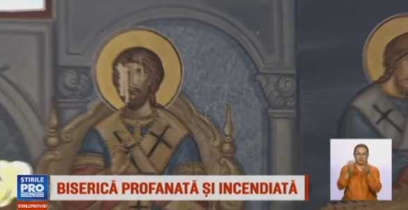 BISERICA veche de 150 de ani, PROFANATA si INCENDIATA de SATANISTI in judetul Mures (Video)