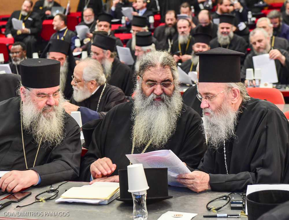 June 25, 2016 - Signing of Documents at the Holy and Great Council Οι εργασίες της Αγίας και Μεγάλης Συνόδου συνεχίζονται στην Κρήτη Οι εργασίες της Αγίας και Μεγάλης Συνόδου της Ορθοδόξου Εκκλησίας, που ξεκίνησαν την περασμένη Δευτέρα, 20 Ιουνίου 2016, συνεχίζονται μέσα σε πνεύμα αγάπης, ενότητας και αδελφικής κατανόησης από τον πρώτο έως τον τελευταίο Ιεράρχη που συμμετάσχει εις αυτήν. Όλα προχωρούν ομαλά, με τη χάρη του Τριαδικού Θεού, τη συνεργασία όλους των μελών της Αγίας και Μεγάλης Συνόδου και την ευστροφία του Προέδρου αυτής, Παναγιωτάτου Οικουμενικού Πατριάρχου. PHOTOS: © GOA/DIMITRIOS PANAGOS