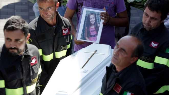 The coffin of Giulia