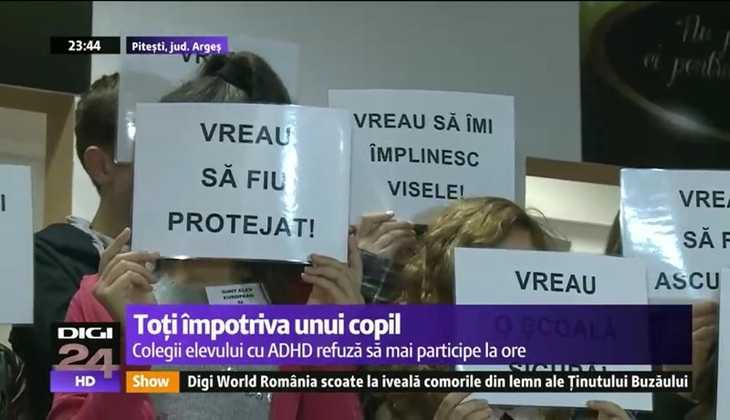 """FALSIFICAREA SI ISTERIZAREA MEDIATIC-OENGISTICA A SCANDALULUI PROTESTULUI <i>""""IMPOTRIVA COPILULUI CU ADHD""""</i> de la Şcoala Gimnazială """"Ion Luca Caragiale"""" din Piteşti. <i>Precedent extrem de periculos</i>: PARINTI ANCHETATI PENAL PENTRU INSTIGARE LA URA (!) si COPII PENALIZATI CU SCADEREA NOTEI LA PURTARE fiindca doresc sa invete si sa fie aparati de VIOLENTA NESTAVILITA a unui coleg"""