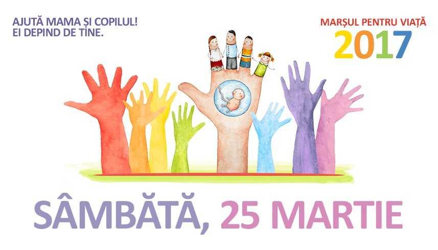PATRIARHIA ROMÂNĂ indeamna credinciosii sa participe in numar cat mai mare la MARSUL PENTRU VIATA 2017, de BUNAVESTIRE. Care este ora de incepere si traseul in Bucuresti?