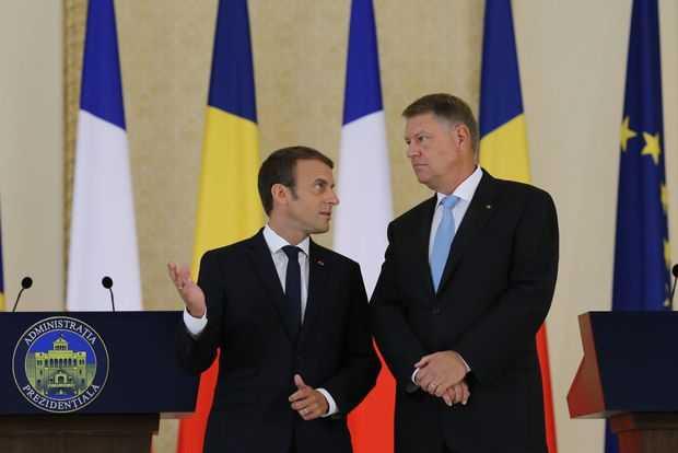Vizita lui Macron in România. LAMENTABILA SLUGARNICIE A PRESEDINTELUI IOHANNIS SI A PREMIERULUI TUDOSE. Agenda presedintelui Frantei, acceptata fara niciun preget: CONTRACTE GRASE PENTRU ARME FRANCEZE, PROTECTIONISM PENTRU VEST IN DAUNA ESTICILOR