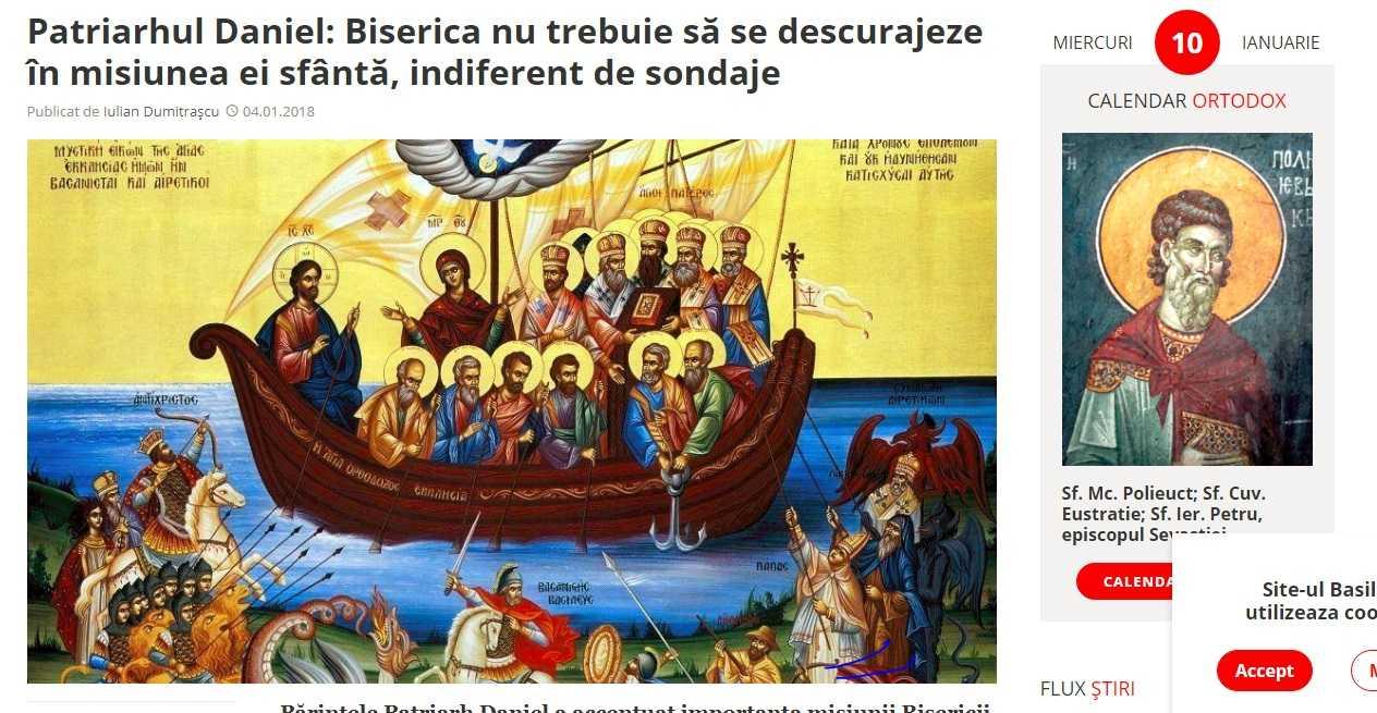 Purtatorul de cuvant al catolicilor din România acuza AGENTIA BASILICA din cauza unei icoane in care Papa este infatisat printre dusmanii BISERICII