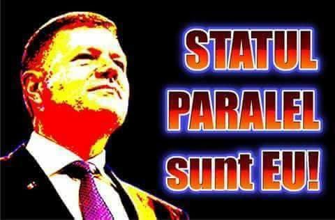 """<i>""""Ce vedeți nu există! Ce auziți, e doar un colaj! TRUST IN ME! Trust in me!""""</i>. ROMÂNIA """"PARADITĂ"""" și ROMÂNIA HIPNOTIZATĂ, căzută în adulație în fața MINCIUNILOR și ABUZURILOR statului milițienesc. MARELE BLAT IOHANNIS-DRAGNEA-KOVESI pentru salvarea REȚELEI organizate de tip MAFIOT, pusă în slujba unor forțe TRANSNAȚIONALE"""