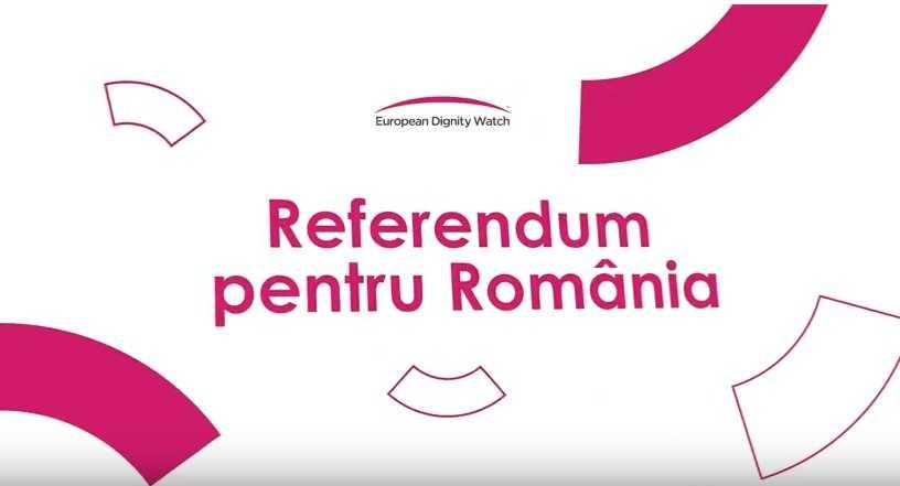 Decizie importanta a CCR: NU MAI EXISTA NICIUN OBSTACOL JURIDIC IN CALEA REFERENDUMULUI/ PROTEST FATA DE LINSAREA A MILIOANE DE ROMÂNI LA TVR/ Apeluri pentru marile partide si europarlamentari pentru REFERENDUMUL de aparare a CASATORIEI/ European Dignity Watch sprijina Coalitia pentru Familie (Video)/ Platforma civica IMPREUNA a organizat DEZBATERI PUBLICE pe tema planurilor cadru pentru invatamantul liceal