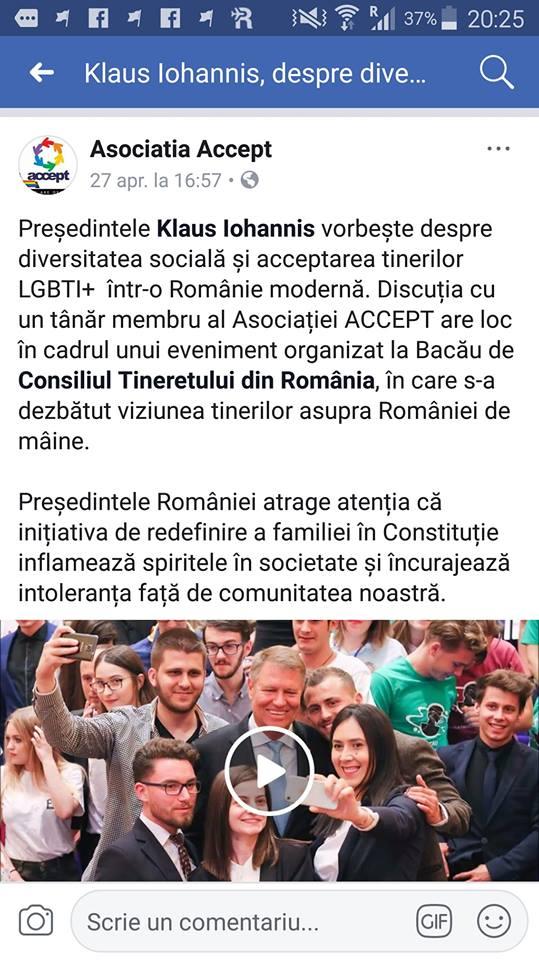 """IOHANNIS, PRESEDINTELE ACCEPT, NU AL ROMÂNIEI. Presedintele respinge din nou REFERENDUMUL PENTRU CASATORIE, anuntand legi pentru eliminarea TOTALA a """"discriminarii"""""""