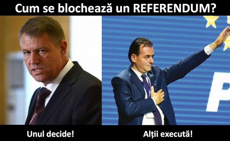 """Culmea tupeului. Ludovic Orban si o serie de """"influenceri"""" invoca SUVERANITATEA POPORULUI si declansarea unui REFERENDUM in contextul deciziei CCR in speta sefului DNA, Kovesi. Aceiasi oameni sunt angrenati in blocarea referendumului pentru casatorie!"""