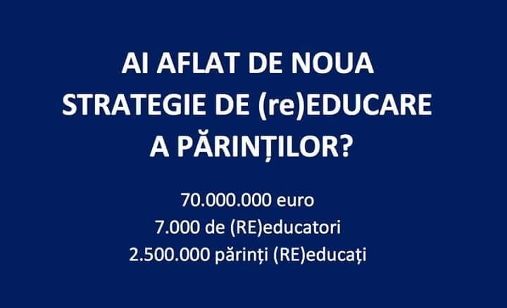 """STRATEGIA NATIONALA DE EDUCATIE PARENTALA – marea """"REVOLUȚIE CULTURALĂ"""" la care MEN vrea supuna familia românească/ Ministerul Educatiei a retras, temporar, proiectul de pe site/ COMPLETA OPACITATE CU PRIVIRE LA ORIGINILE STRATEGIEI/ Planuri stahanovist-faraonice care implica 7000 de """"experti"""" si zeci de milioane de euro buget"""