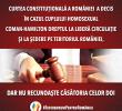 Curtea Constitutionala a decis in cazul Coman: DREPT DE REZIDENTA PENTRU CUPLURILE DE ACELASI SEX, DAR CODUL CIVIL RAMANE NESCHIMBAT. Inclusiv in articolele despre NERECUNOASTEREA MARIAJELOR GAY/ Referendumul pentru casatorie – pe 30 septembrie?