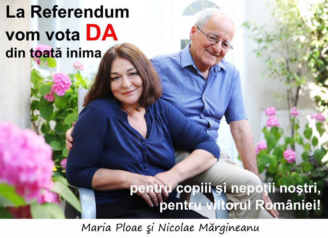"""MIHAI NEȘU PENTRU REFERENDUM:  <i>&#8220;Mă duc prietenii în braţe, aduc toate rampele şi tot merg. Nu zici doar DA pentru clarificarea în Constituţie, ci este şi o dovadă de credinţă&#8221;</i>/ Mărturii de la Maria Ploae, Nicolae Mărgineanu, Florin Piersic, Marcel Iureș, Manuela Hărăbor, Sofia Vicoveanca și alții: <i>""""La Referendum vom vota DA, din toată inima""""</i> (Video)/  VIRGILIU GHEORGHE: Ieșirea la vot are valoarea unei mărturisiri"""