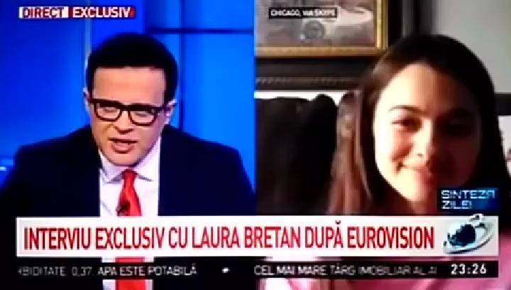 """LAURA BRETAN – reactie PILDUITOARE dupa nedreptatea de la Eurovision: <i>""""I-AM IERTAT SI II IUBESC PE JURATII CARE M-AU DEPUNCTAT. O sustin din toata inima pe Ester. AS FACE LA FEL SI ACUM LEGAT DE SUSTINEREA REFERENDUMULUI FAMILIEI, chiar daca as sti ca pierd""""</i> (video)"""