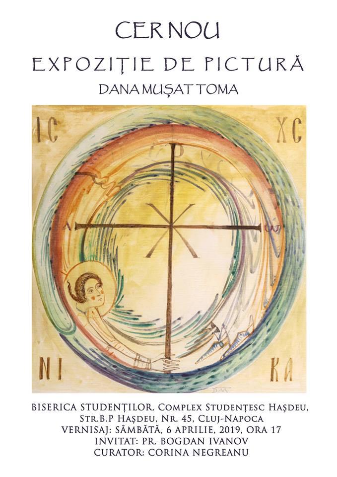 CER NOU – Expoziție de pictură și grafică DANA MUȘAT TOMA la Biserica Misionară a Studenților din Cluj Napoca