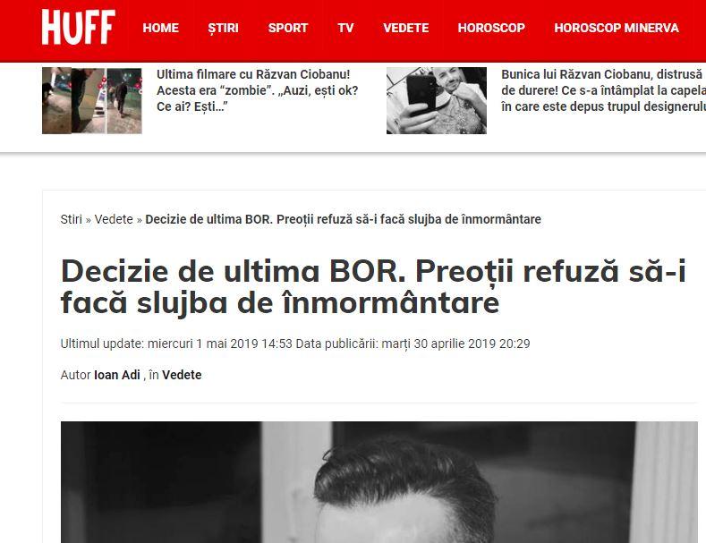 Val de ȘTIRI FALSE și inflamare emoțională anti-BOR pe marginea decesului lui Răzvan Ciobanu