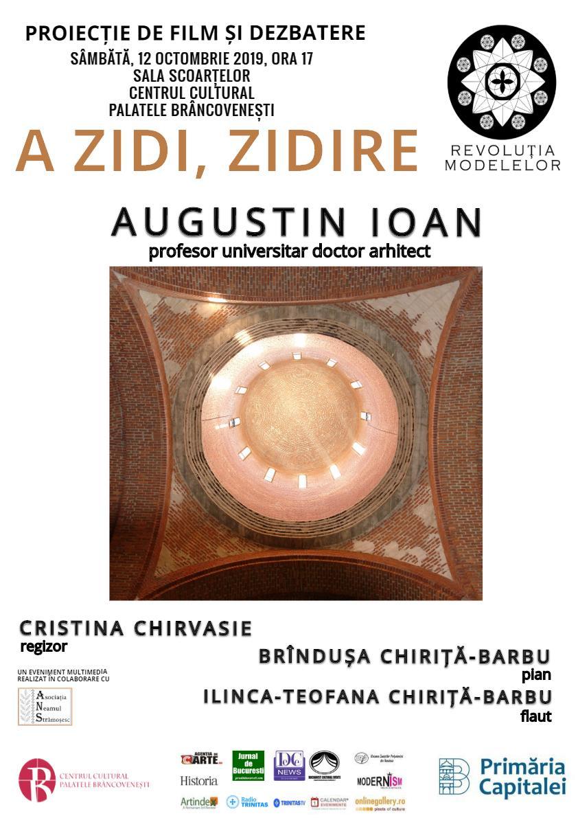 A ZIDI, ZIDIRE. Proiecție de film și dezbatere la Centrul Cultural Palatele Brâncovenești