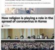 <i>RELIGIA ȘI CONSERVATORII RĂSPÂNDESC CORONAVIRUSUL</i>. Cum stigmatizează massmedia grupurile religioase, pelerinajele și ceremoniile plecând de la cazul unui cult milenarist din Coreea de Sud