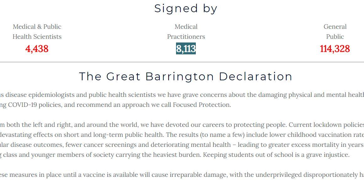 """DECLARAȚIA DE LA BARRINGTON capătă amploare. Mii de cercetători, medici și experți în sănătate, sute de mii de """"laici"""" semnează APELUL ANTI-LOCKDOWN/ Declarația, cenzurată de REDDIT"""