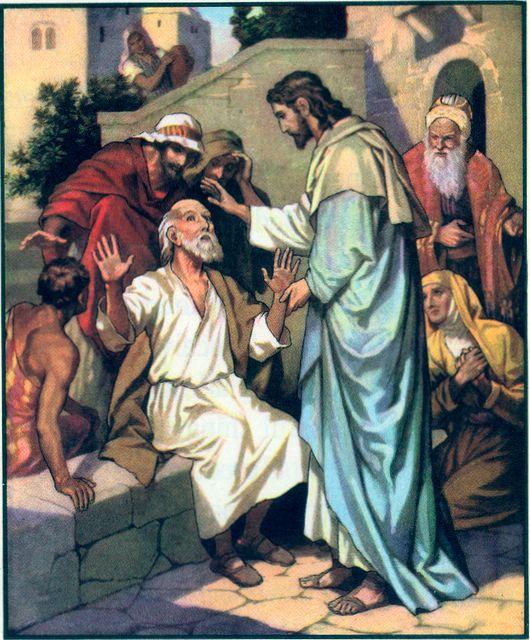 Isus face vindecări miraculoase